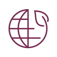 icon of globe and leaf