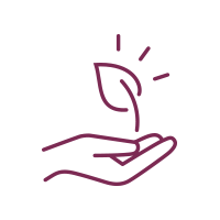 icon of hand holding leaf