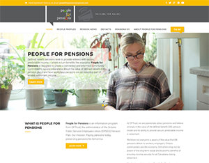 People for Pensions homepage