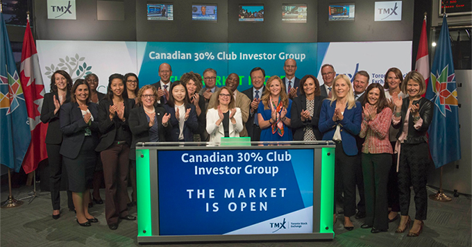 30% Club Canada in TSX to launch its Investor Group's Statement of Intent driving meaningful progress on gender diversity.