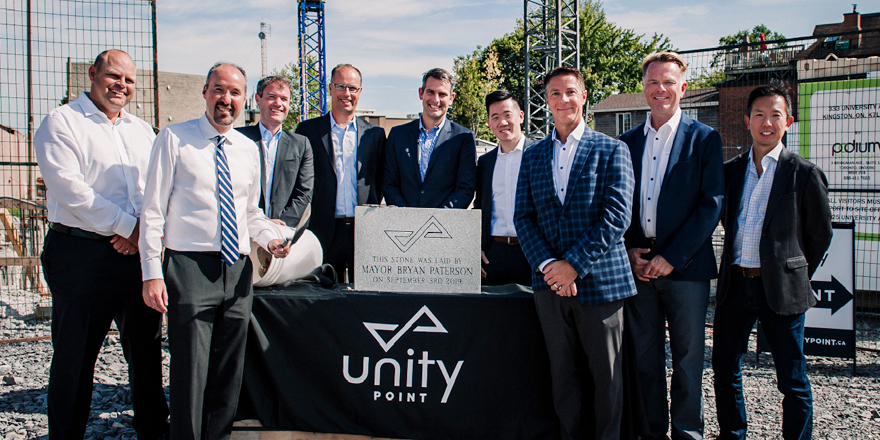 Corrnerstone laying ceremony for Unity Point