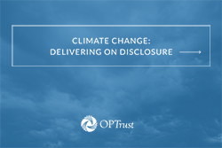 CLIMATE CHANGE:DELIVERING ON DISCLOSURE