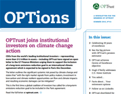 OPTions newsletter cover