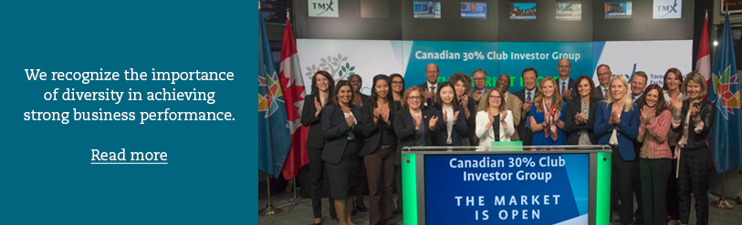 30% Club Canada in TSX to launch its Investor Group's Statement of Intent driving meaningful progress on gender diversity