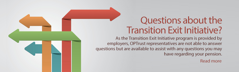 Questions about the Transition Exit Initiative?